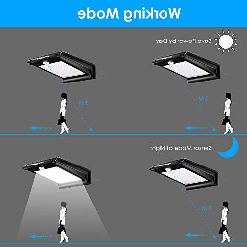 URPOWER Lights Solar Sensor Outdoor Wireless Exterior Security Wall Light DIM