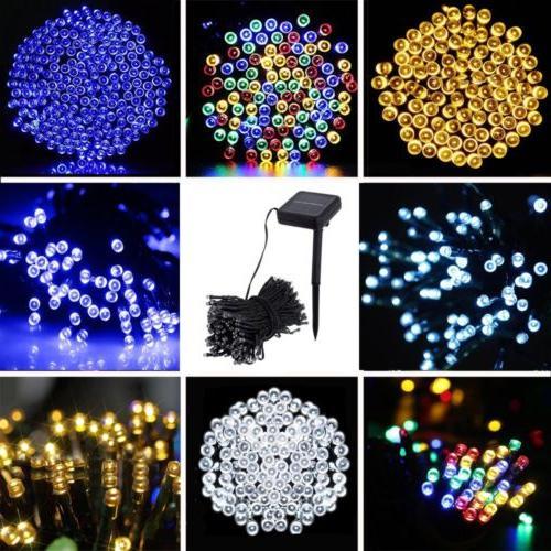 Solar 100 200 LEDs String Fairy Tree Light Outdoor Wedding P
