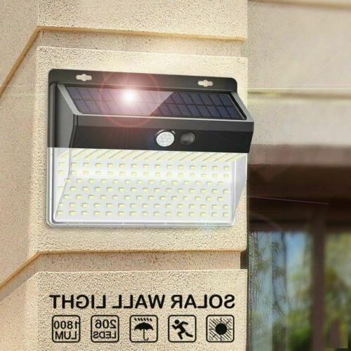 206 Outdoor Solar Power Wall Lamp Motion Sensor Security Flood Light