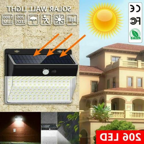 206 Solar Power Motion Sensor Light