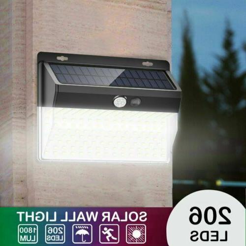 206 Power Wall Lamp Sensor Security Garden Light