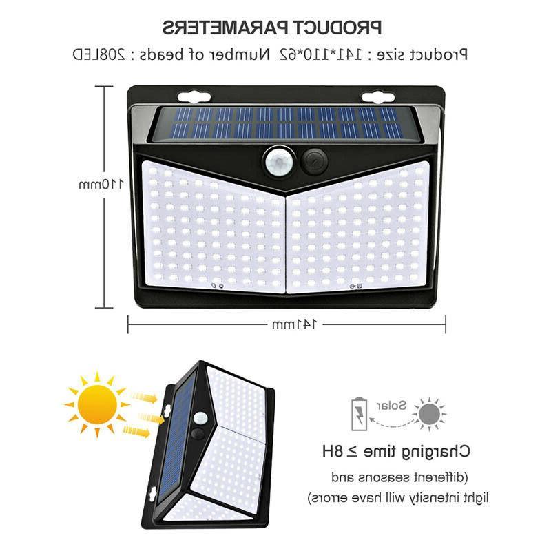 208 LED Motion Sensor Power Light Yard Waterproof