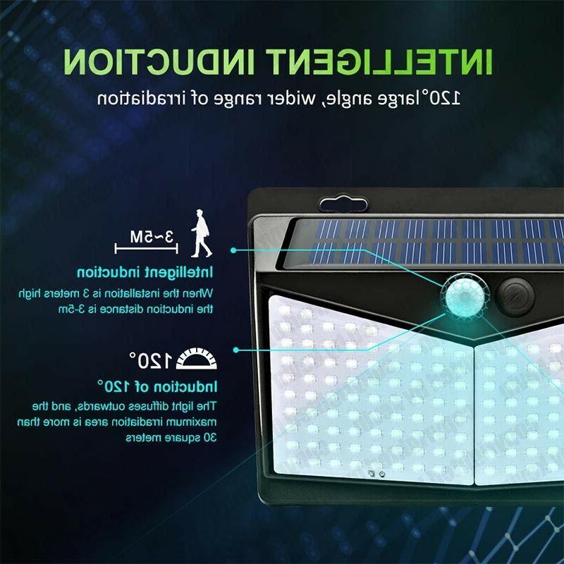 208 Sensor Solar Power Garden Light Yard Waterproof