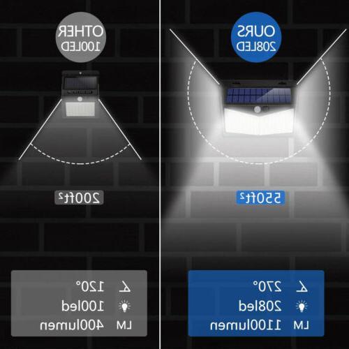 208 Light Motion Sensor Outdoor Lamp Wall Garden