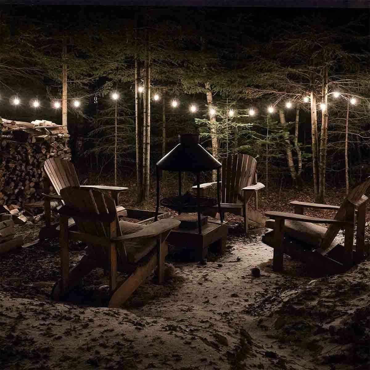 23FT 50 String Lights Waterproof Outdoor Party