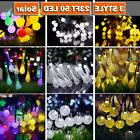 23FT 50 LED Solar String Fairy Lights Outdoor Cool Warm Wate