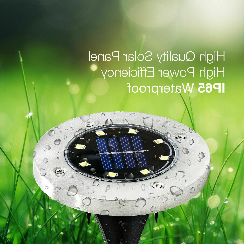 24pcs of Solar In-Ground Lights, Lights, Disk Lights