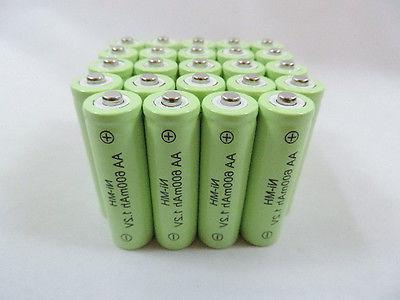 25 aa 600mah ni mh rechargeable battery