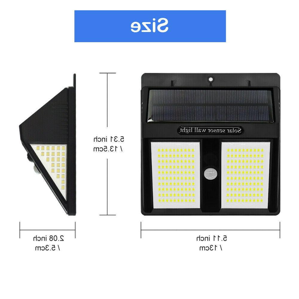 250 LED Solar Lights PIR Sensor Wall Lamp Waterproof