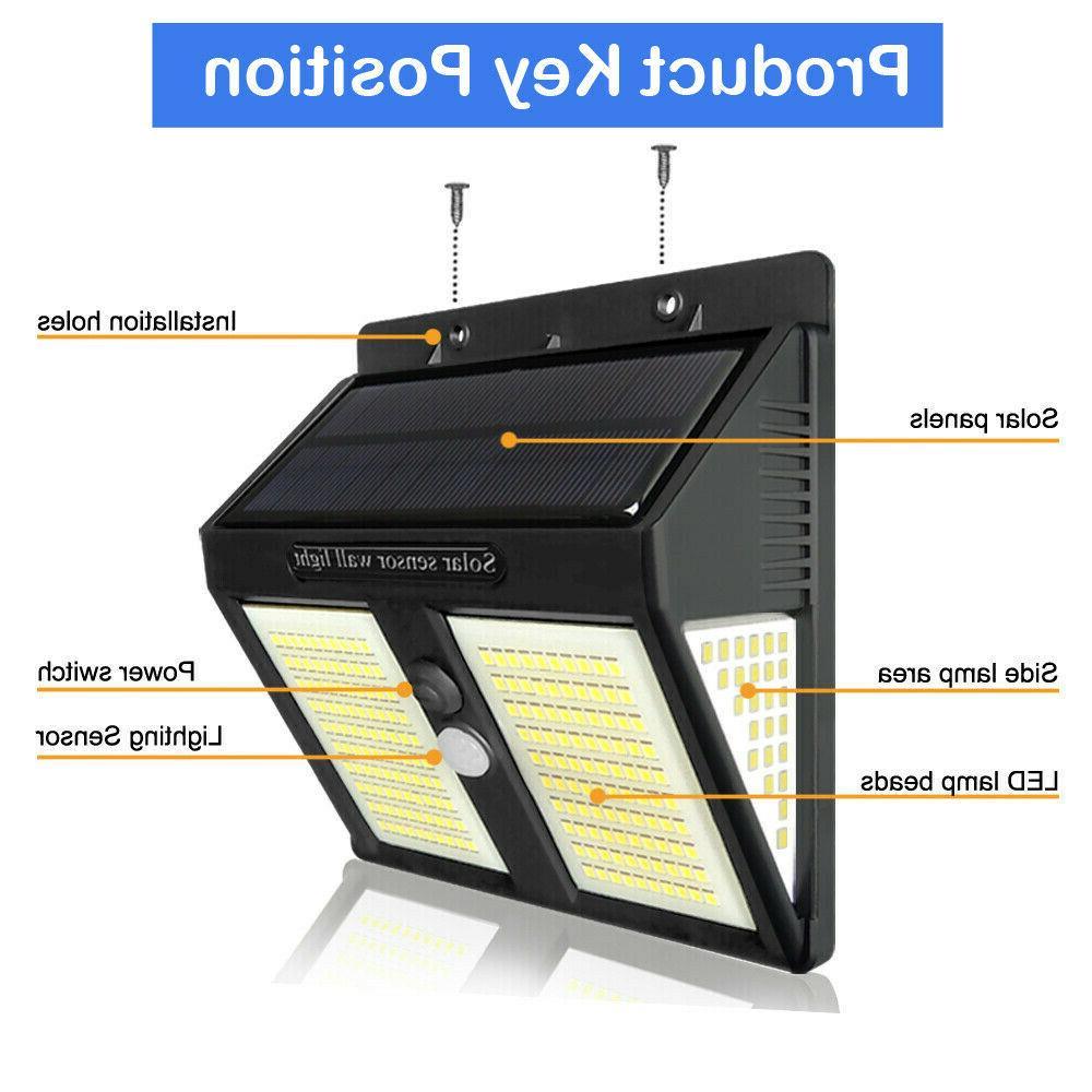 250 Solar Lights Motion Sensor Wall Lamp Waterproof