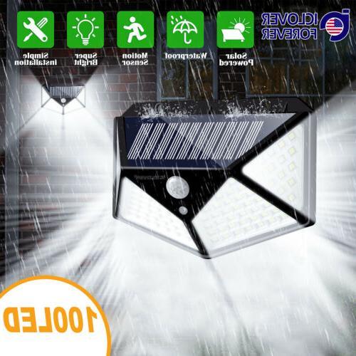 250 led solar power lights outdoor pir