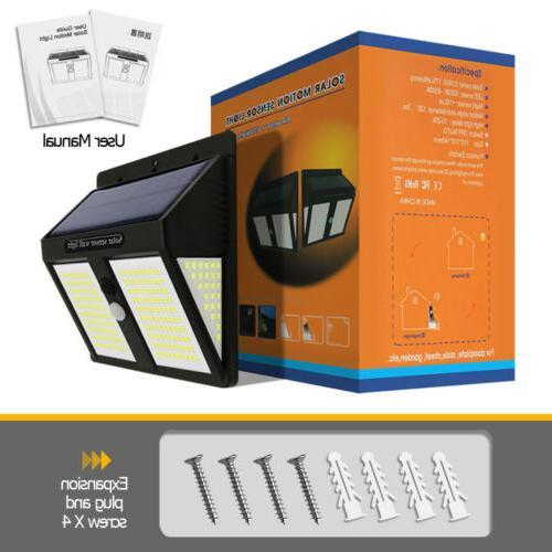 250 Solar Powered PIR Motion Garden Lamp
