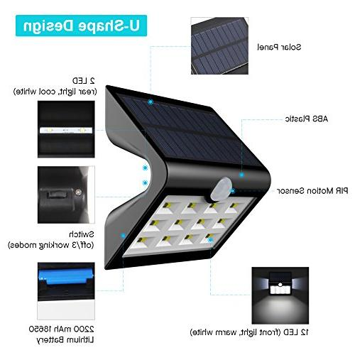 InnoGear 14 LED Solar Auto on/Off Lamp for Path Patio Yard Deck Porch Pack of