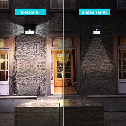 InnoGear SL412 14 Solar Projection Outdoor Activated Security Night Auto Wall Lamp for Patio Deck Pack