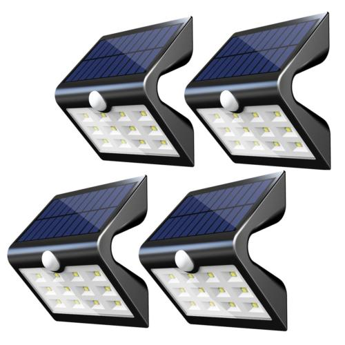 InnoGear SL412 2nd Version 14 LED Solar Rear Projection Outdoor Motion Sensor Activated Security Night Auto Deck Garden Pack 4