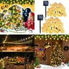 2Pack Qedertek Solar Christmas Lights 30 LED Crystal Ball Gl