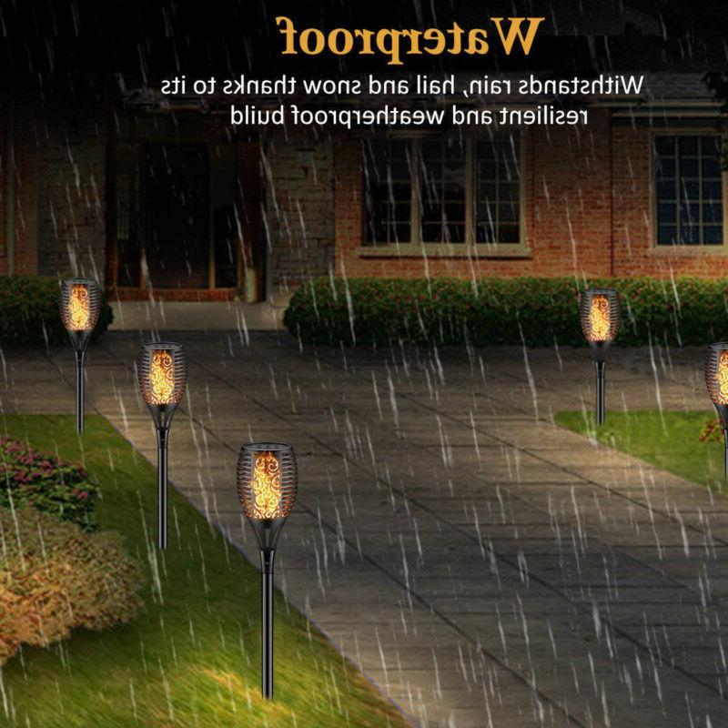2× Solar Power Lights 96LED Waterproof Lighting Torch Lamp