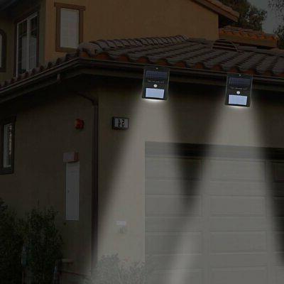 2pc LED Solar Motion Sensor Outdoor Garden Security Flood BP