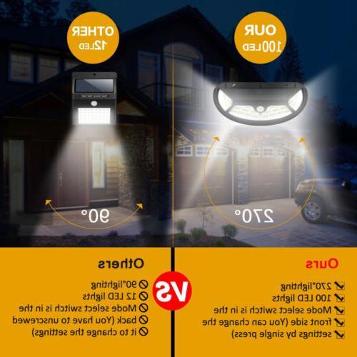 2Pcs LED Sensor Backyard Fence Porch