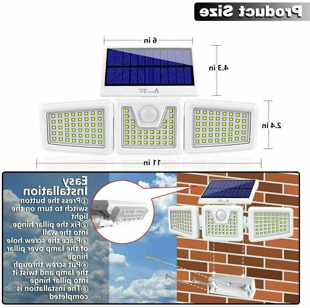 2Pack Solar Motion Sensor LED 3