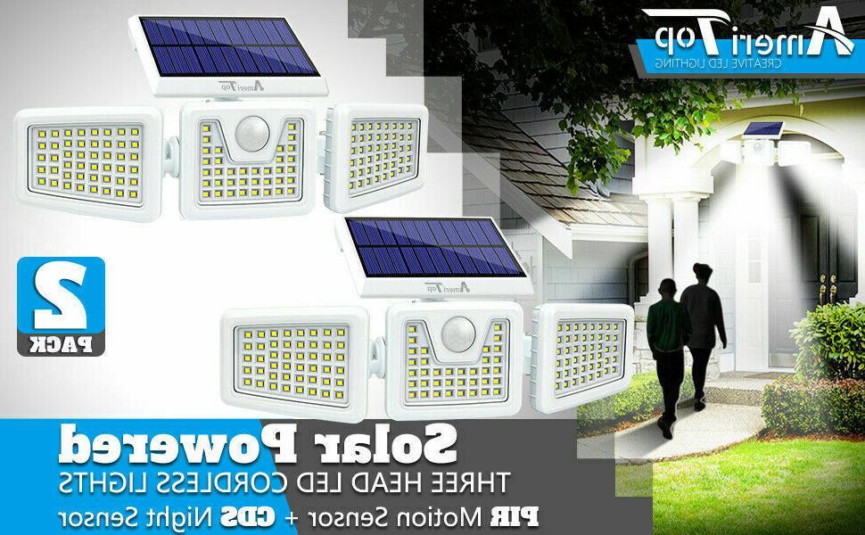 2Pack Solar Lights Outdoor,Security Motion Sensor 3