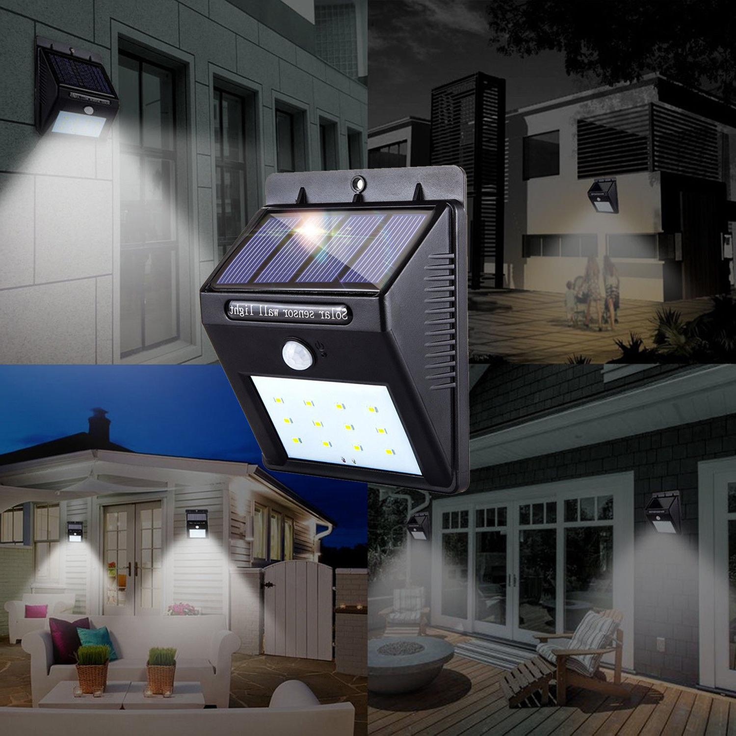 2pk Outdoor Waterproof LED Motion Lamp