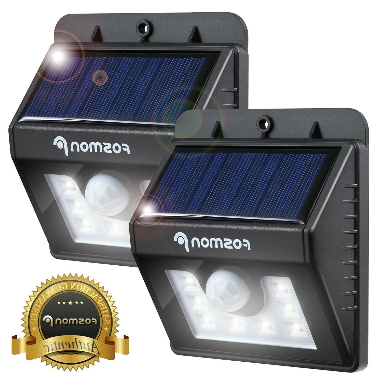 2x solar lights motion sensor wall light