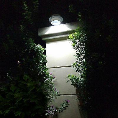2pcs 3 LED Cool White Solar Power Light Security Garden Door