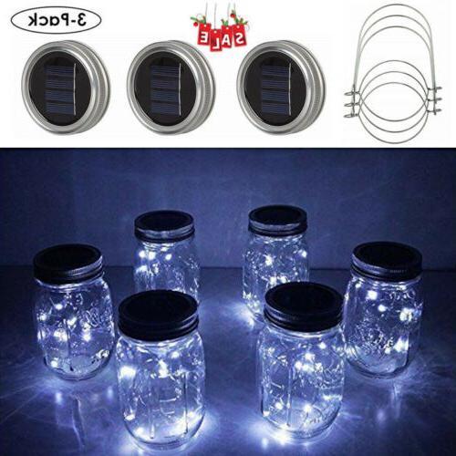 3 pack mason jar lights 20 led