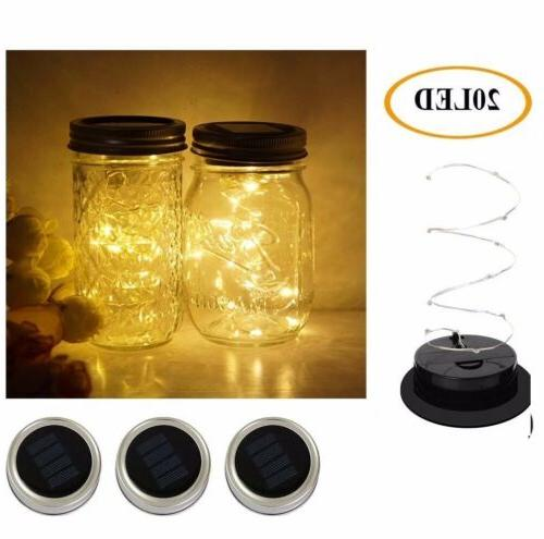 3 Pack Mason Jar Mason Solar for Glass