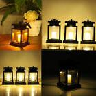 Solar Power LED Candle Light Table Lantern Hanging Lamp Indo
