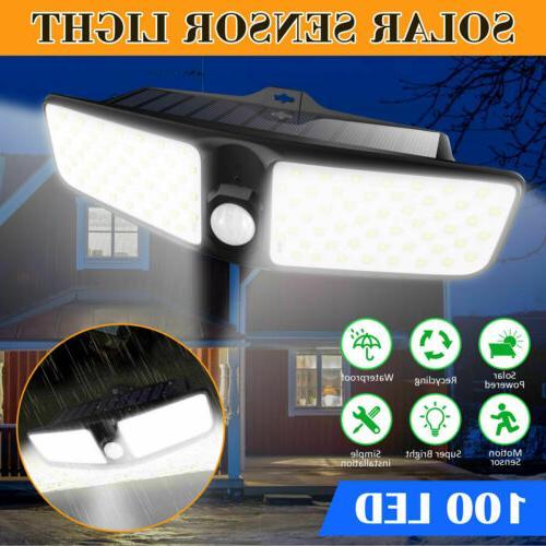 100 LED Solar Lamp Outdoor Garden Waterproof PIR Motion Sens