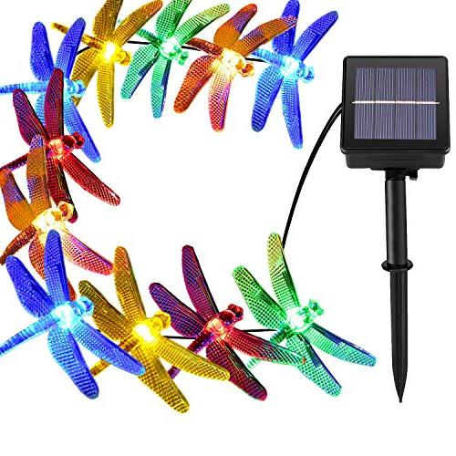 30 led solar dragonfly lights