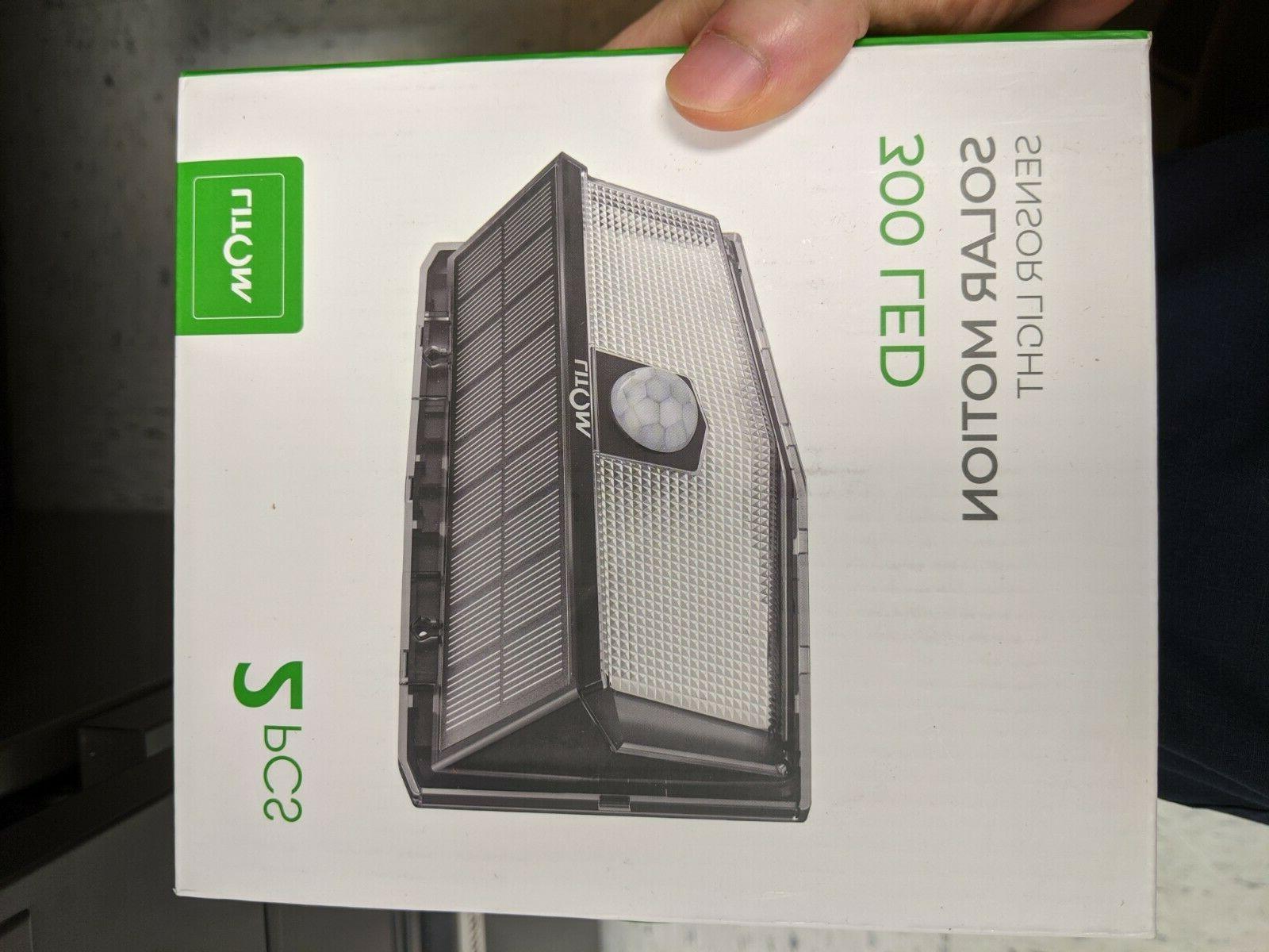 300 Sensor Lights Outdoor, IP67 Waterproof