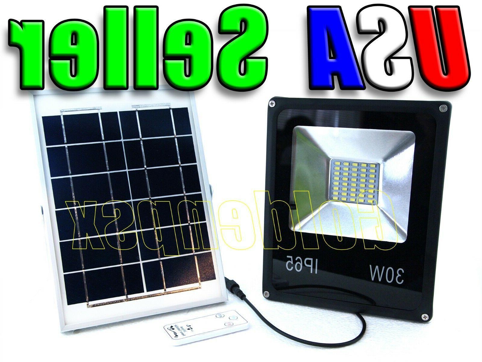 30w solar power led flood light spotlight
