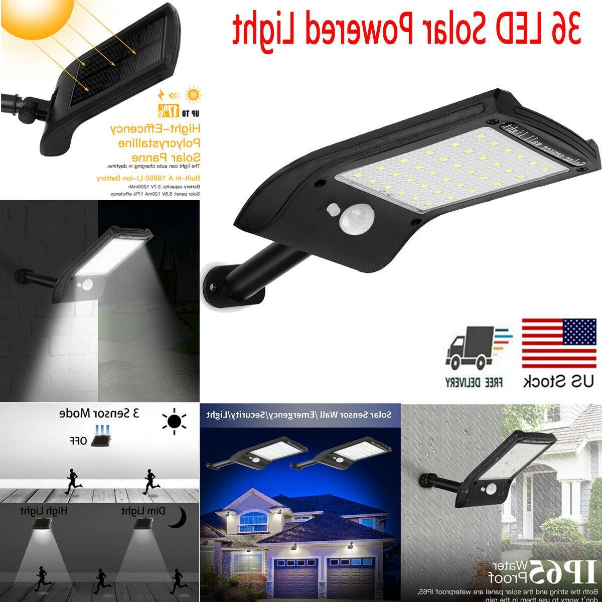 36 led solar lights motion sensor wall