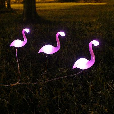 3PC/SET LED Lamp Solar Power Garden Lights US SHIP