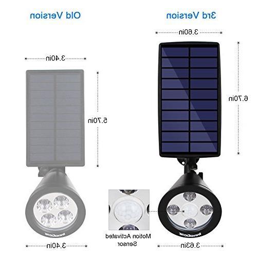InnoGear Sensor Solar Outdoor Spotlight Outside Light LED Lighting Auto On/Off for Pathway Yard Deck, Pack