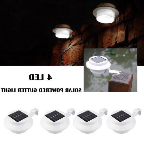 4 LED 2018 Solar Gutter Outdoor Lamp