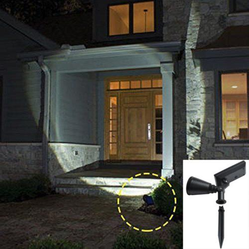 4 LED Solar Garden Lamp Spot Light Lawn Lighting