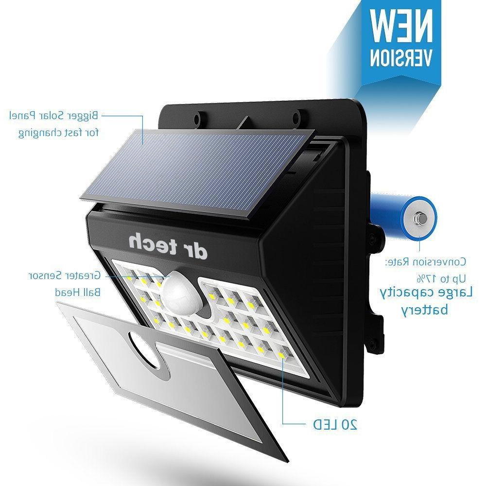 4 Solar Motion Sensor Wireless Wall Outdoor