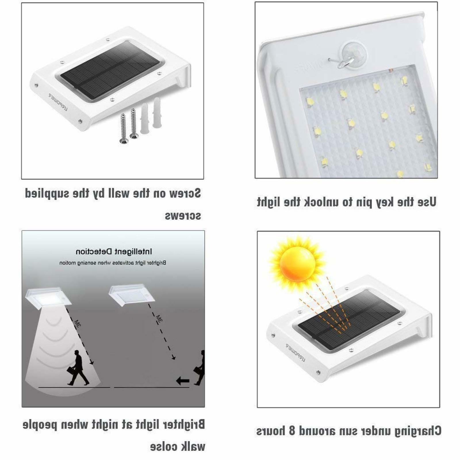 4 Solar Motion Sensor Security Garden