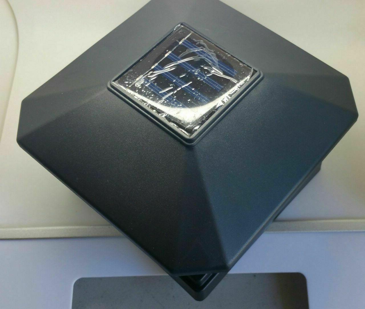 """4 Pack 4"""" 6"""" SMD LEDs Black Post Deck Fence Cap Lights"""