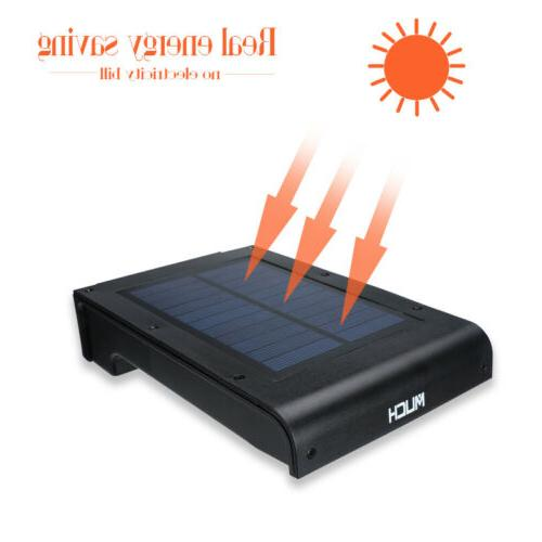 4 72 LED Solar Power Wall Motion Lamp Outdoor