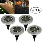 4 Pack 8 LED Solar Power Buried Light Under Ground Lamp Outd