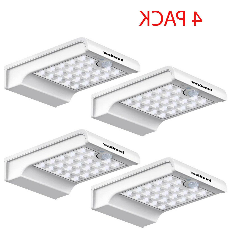 4 Pack LED Gutter Solar Lights Outdoor Motion Sensor Securit