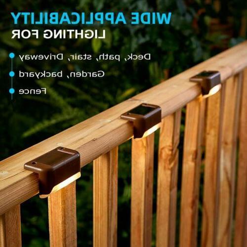 4x LED Solar Powered Light Outdoor Garden Security Wall Fenc