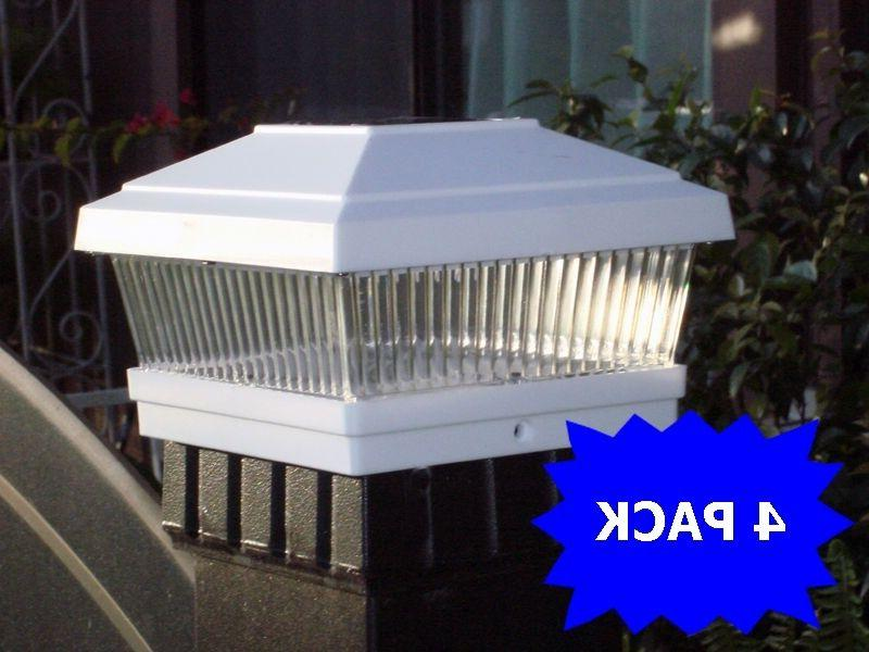 4 pack led white 5 x5 solar