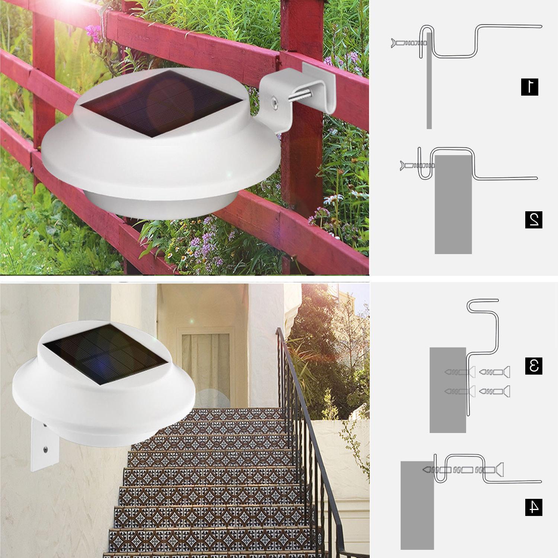 4 Pack Solar Gutter Lights Outdoor Security Fence