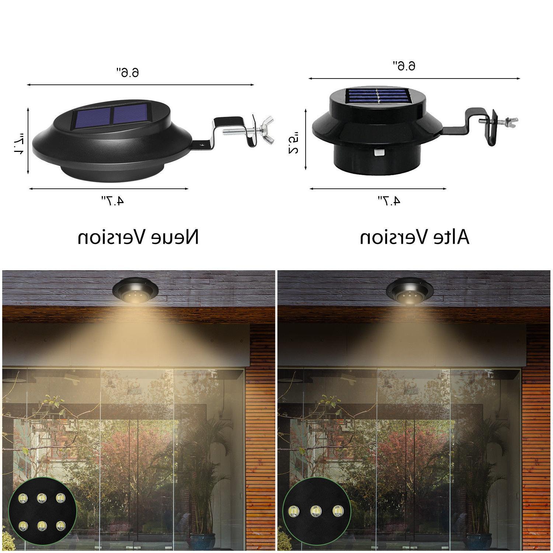 4 Pack Solar Garden Gutter LEDs Outdoor Waterproof Fence Lamp
